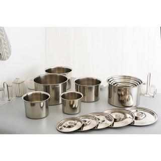 CURTA科得味盅加厚不锈钢桶调料罐调料缸圆形调味盒无盖子盐罐(12CM)/33810201880订制
