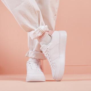 乔丹 女鞋空军一号板鞋透气低帮小白鞋运动鞋 XM4690502 白色/藕粉色 39