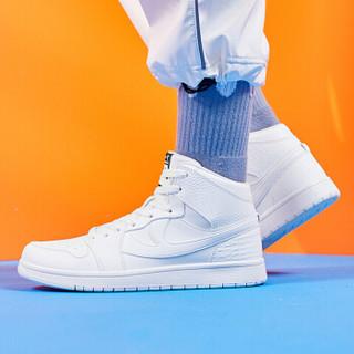 乔丹 男鞋高帮鞋板鞋空军一号小白鞋运动鞋 XM4590509 白色 42.5