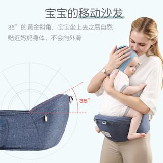 贝能(Baoneo)婴儿背带 前抱式多功能腰凳背带四季通用 宝宝新生儿夏季抱娃神器 BNYEYD夏季款牛仔蓝