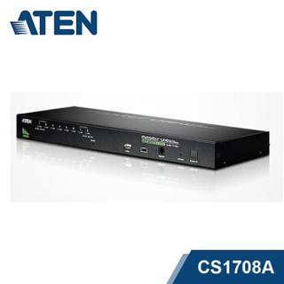 ATEN宏正8口PS2/USB多电脑KVM切换器 8进1出VGA机架切换器CS1708A