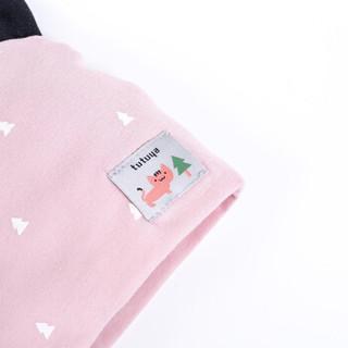 贝贝怡男女宝宝保暖针织衫2019秋冬新款新生儿婴儿洋气双层针织帽 粉色 34cm(建议0-3个月)