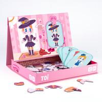 TOI磁性拼图儿童磁铁磁力书磁贴3-5-6岁宝宝早教男孩女孩玩具小女孩 TP992