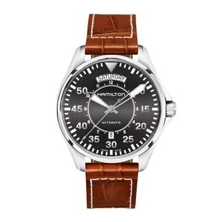 汉米尔顿(HAMILTON)瑞士手表卡其航空系列飞行员双历42毫米自动机械男士腕表H64615585