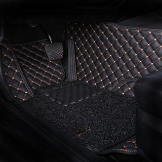 牧宝(MUBO)汽车脚垫全包围皮革丝圈脚垫双层专车定制 专用于2019年 福特福克斯内饰改装装饰脚垫 神秘黑