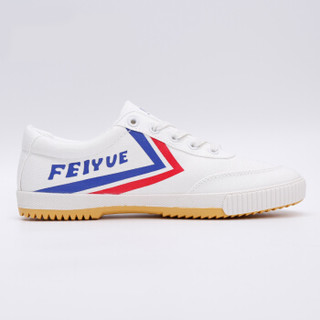 飞跃(Feiyue)帆布男女情侣改良款运动休闲百搭小白运动板鞋 8038 红蓝黄底 43