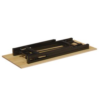 苏美特折叠桌长条桌培训桌简易桌课桌电脑桌学习桌单层木纹800*600*750