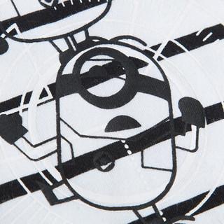 三枪童装 THREEGUN KIDS 儿童长袖衫 舒肤弹力棉女童男童少儿打底T恤 2C093A0 小黄人白 160