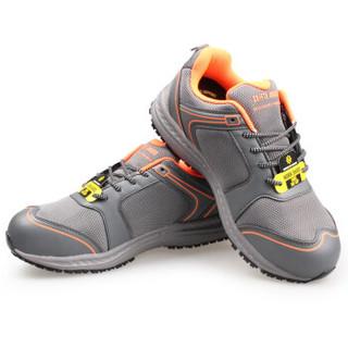 鞍琸宜 Safety Jogger balto 劳保鞋钢头防砸防静电轻便透气防滑耐磨安全工作防护 灰色 38码
