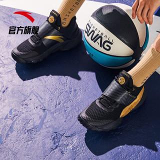 安踏 ANTA 官方旗舰男鞋篮球鞋男霸道外场透气耐磨实战球鞋 黑/金属金-4 9(男42.5)