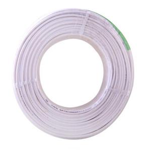晶花国标铜芯护套线 软护套线 电线 电缆 RVV4*6白100米/盘