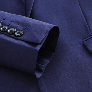 金盾(KIN DON)西服套装 男2019秋季新款休闲百搭商务休闲纯色修身西服三件套 D216-6655 蓝色 S