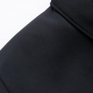 北极绒(Bejirong)中山装套装男 2019新款时尚四季老人中山装爷爷中山服套装 QT722-9860 黑色 190/80