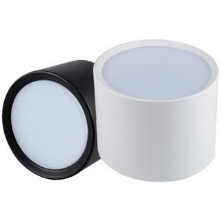冰禹 BYZM18 LED明装筒灯 LED筒灯 LED贴片式免打孔防雾筒灯 加厚铝材吸顶灯 白色3寸5W 3000K