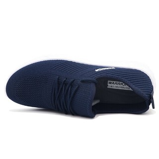 回力 Warrior 男款网面韩版百搭透气运动休闲跑步鞋 WXY-L042C 深蓝 43