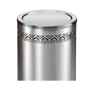 南 GPX-110K 港式镂空花边垃圾桶 公用垃圾箱垃圾筒 商场酒店果皮桶 镂空砂钢 内桶容量24升