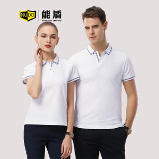 能盾夏季工作服男女短袖polo衫高端翻领t恤 企业银行班服制作ZYTX-1898黑色L