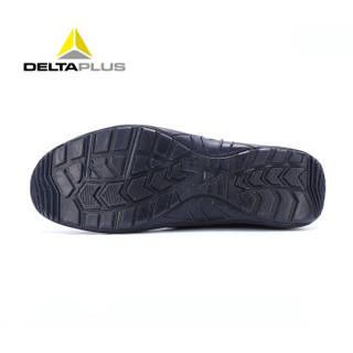 代尔塔(Deltaplus)透气劳保鞋 19年新款 3D双层飞织 防砸防刺穿 防静电 时尚双色安全鞋 301228 蓝色 39