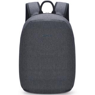 七匹狼电脑包男士背包双肩包15.6英寸笔记本防泼水牛津布旅行包大容量 深灰色JF039118-01IH1