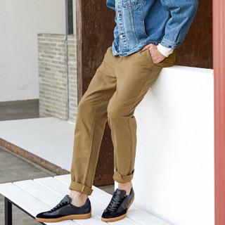 京东京造 板鞋男休闲进口头层牛皮滑板鞋舒适透气耐磨 黑色 42