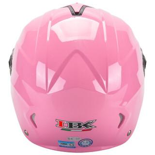 IBK 530 粉色 电动摩托车头盔男夏季防晒电瓶车头盔女士轻便式四季安全帽双镜片夏盔