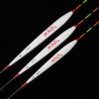 北溟鱼 台湾白巴尔杉木浮漂 鲫鱼鲤鱼漂醒目加粗漂尾 G-003,123号各一支套装