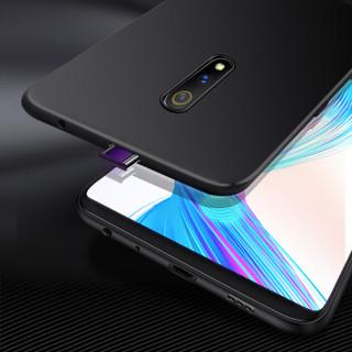 Freeson realme X/OPPO K3手机壳保护套 防摔防滑全包TPU软壳 磨砂硅胶套 (附挂绳)黑色