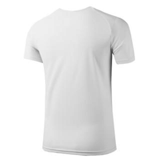 富贵鸟 FUGUNIAO 男士夏季短袖速干套装排汗透气弹力跑步运动短裤健身运动套装 9016 白色三件套 M