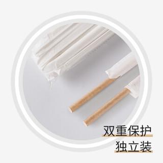 唐宗筷 原木色纸吸管 搅拌棒 多功能一次性吸管 可降解环保餐具 饮料奶茶果汁创意原木色纸吸管 100支 C6883