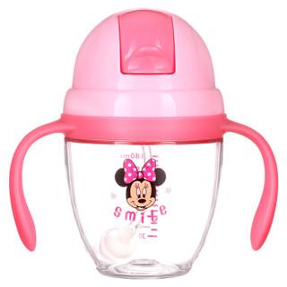 迪士尼(Disney)宝宝学饮杯婴儿吸管杯水杯带手柄儿童小孩婴儿喝奶喝水杯300ml Tritan材质 米妮 HM3262N