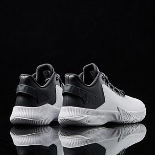 乔丹 篮球鞋男鞋高帮实战革面球鞋耐磨缓震运动鞋 XM3590109 白色/黑色 44