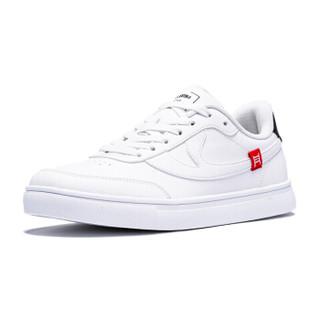 乔丹 女鞋板鞋小白鞋经典滑板运动鞋 XM3690523 白色/黑色 35