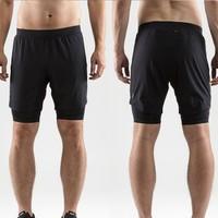 CRAFT Delta 2.0 男款速干二合一压缩短裤