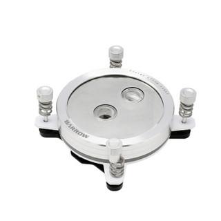 barrow LTFHB-04N V2 白色支架砂丁银 INTEL平台专用喷射型微水道 散热器 CPU水冷头 尊享版 5V 3针 幻彩灯效