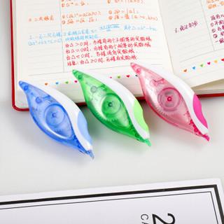 缤乐美(Paper Mate)舒适握修正带/涂改带单支吸塑装粉色 加长耐用学生文具