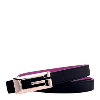 Guy Laroche 姬龙雪 女士奢侈品腰带简约时尚牛皮双面双色皮带优雅经典款GW7950011D-01 105CM