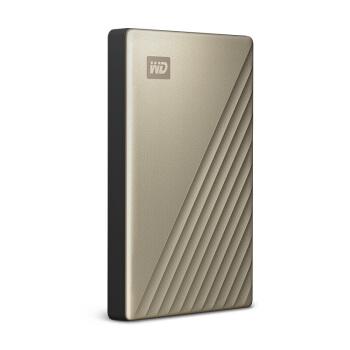 西部数据(WD)2TB Type-C移动硬盘My Passport Ultra2.5英寸 金色(硬件加密 自动备份)WDBC3C0020BGD
