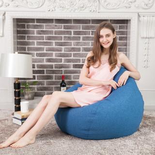 PUANSES懒人沙发豆袋升级独立内胆 单人休闲榻榻米小户型客厅沙发进口EPP标准款(85*105)宝石蓝懒人沙发椅