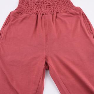 棉果果儿童长裤男童女宝宝秋季高腰护肚防蚊裤多色可选  19352 浅紫 80