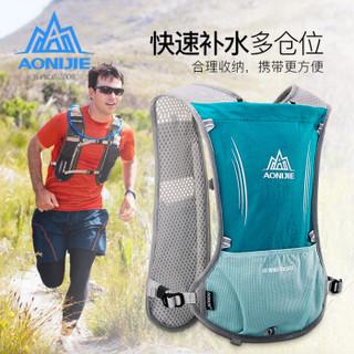 奥尼捷(AONIJIE)越野跑步背包户外骑行包男女运动双背包马拉松水袋包 薄荷绿5L