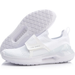 李宁 LI-NING 羿星II女子潮流休闲鞋AGLP028-4 标准白/微晶灰 40