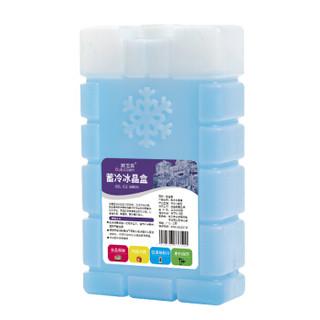 欧宝森冰晶盒 制冷蓝冰 空调扇蓄冷冰盒冰砖 冰排 食品母乳保鲜 350ml雪花 2个装