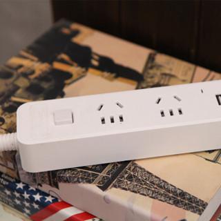 亿卓(OKEACH)USB插座插排插线板排插开关插座转换插头USB插座YZ-T522U白色1.8米
