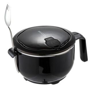 美厨(maxcook)304不锈钢泡面碗 学生饭盒餐杯泡面杯1200ML 送勺子带盖防漏防烫耐摔MCFT945