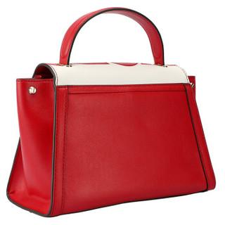 MICHAEL KORS 迈克·科尔斯 MK女包 WHITNEY系列红色皮质女士手提单肩斜挎包 30S9LWHS2O RED/WHT