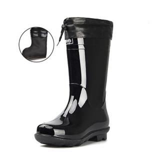 回力男士中高筒加绒保暖雨鞋雨靴胶鞋套鞋防水鞋 838 中筒加绒 39(正常尺码)