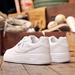乔丹 男鞋空军一号低帮板鞋透气潮流小白鞋运动鞋 XM4590502 白色 44.5