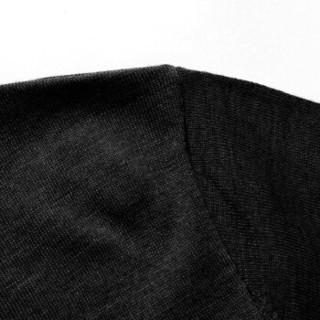 罗蒙(ROMON)羊毛衫男2019秋冬新款高领休闲商务打底衫 9YM929002 黑色 2XL