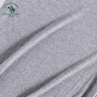 圣大保罗 ZPU-3002 男士背心 男无痕V领T恤螺纹短袖 灰色 XXL