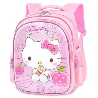 凯蒂猫(HELLO KITTY)幼儿园书包女童3-6岁儿童书包中小班可爱kt迷你卡通宝宝双肩包 DB96281A(粉色)